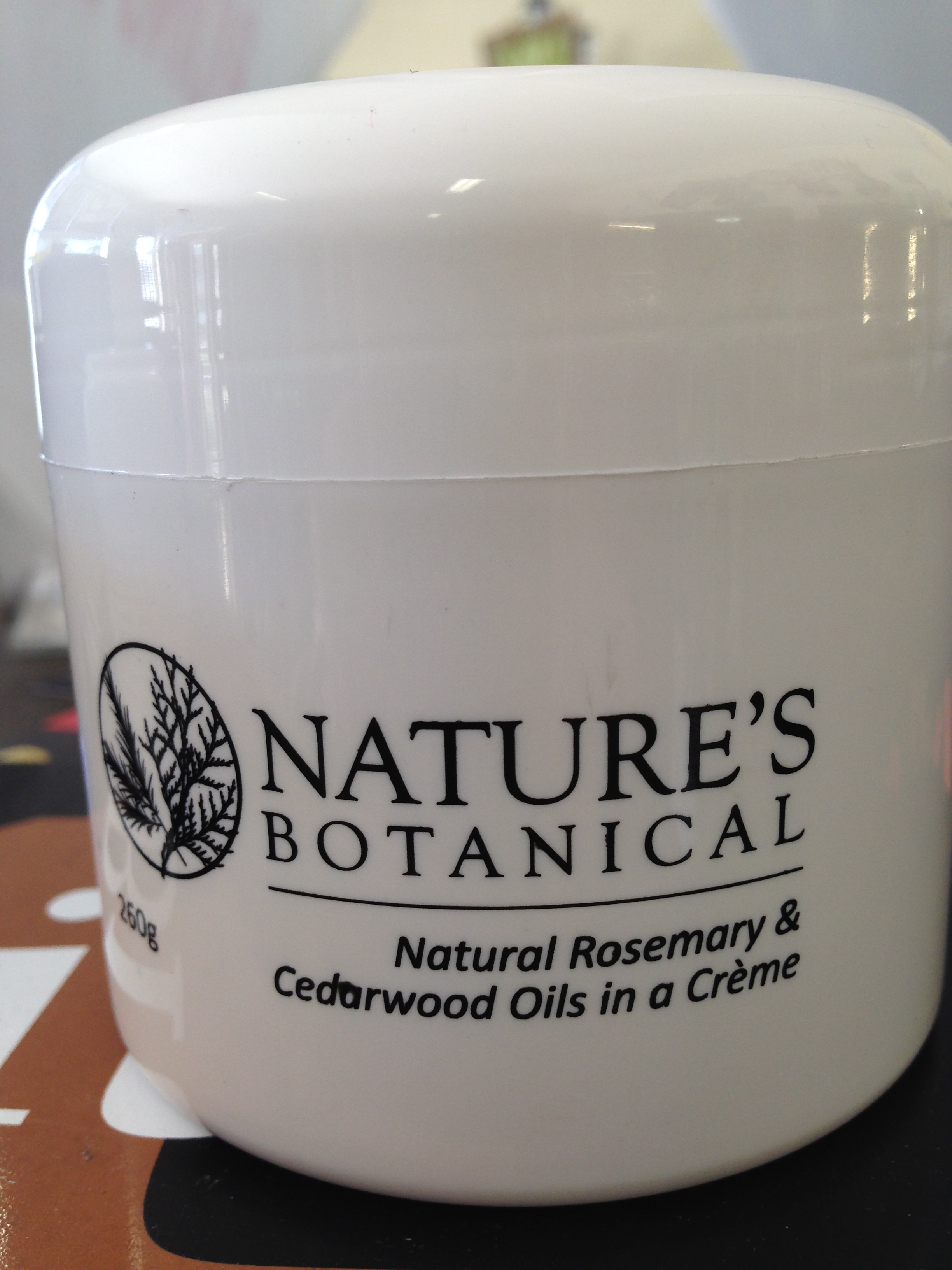 NATURE'S BOTANICAL- Natural Rosemary & Cedarwood Oils in a Creme